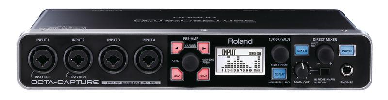 Roland Octacapture, con control de ganancia digital en los previos