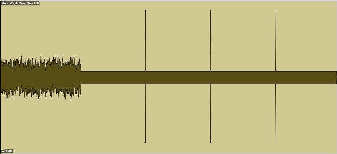 representación gráfica de la señal de prueba